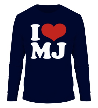 Мужской лонгслив I Love MJ