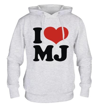 Толстовка с капюшоном I Love MJ