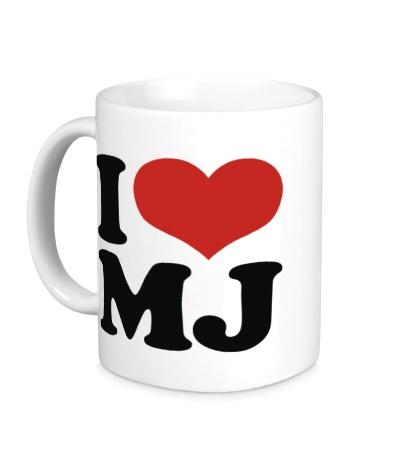 Керамическая кружка I Love MJ