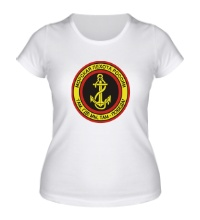 Женская футболка Морская пехота России