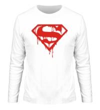 Мужской лонгслив Кровавый супермен