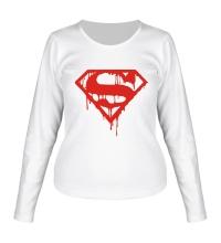 Женский лонгслив Кровавый супермен
