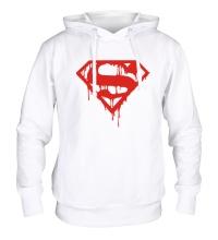 Толстовка с капюшоном Кровавый супермен