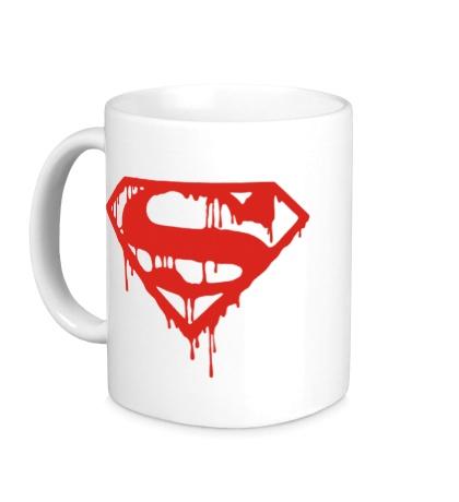 Керамическая кружка Кровавый супермен