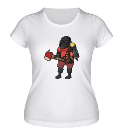 Женская футболка TF2: Pyro Comics