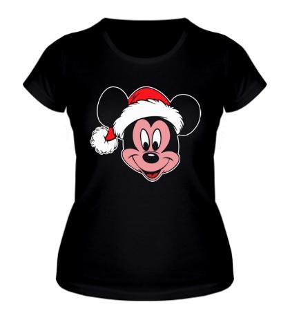 Женская футболка Микки Маус в шапке