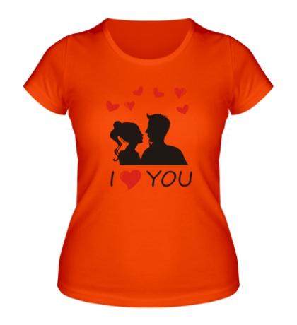 Женская футболка I heart you
