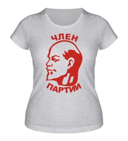 Женская футболка Член партии
