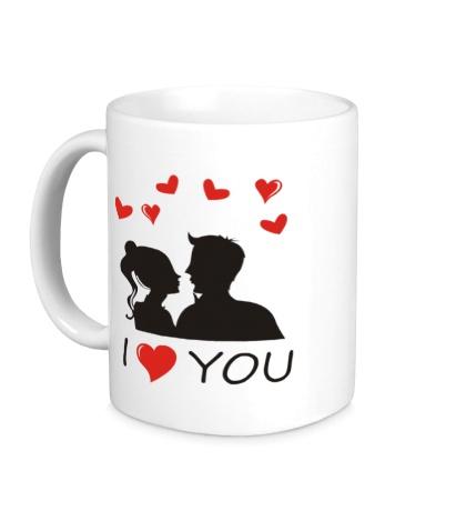 Керамическая кружка I heart you