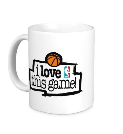 Керамическая кружка NBA I love this game