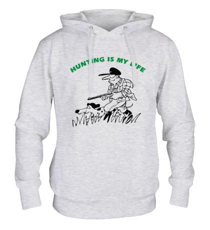 Толстовка с капюшоном Hunting is my Life