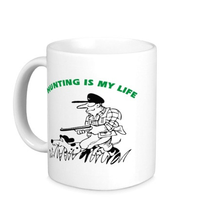 Керамическая кружка Hunting is my Life