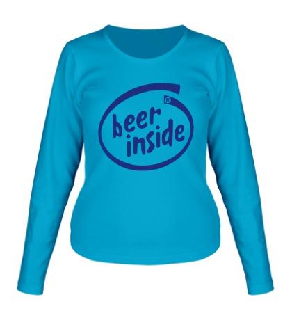 Женский лонгслив Beer inside