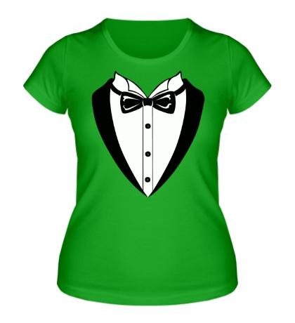 Женская футболка «Смокинг»