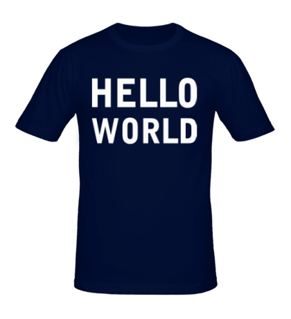 Мужская футболка Hello World