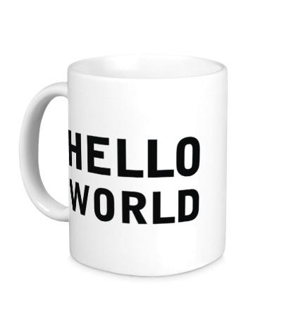 Керамическая кружка Hello World
