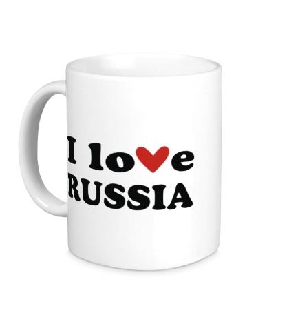 Керамическая кружка Love Russia