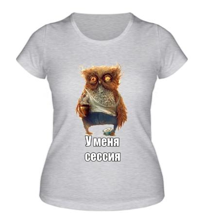Женская футболка У меня сессия