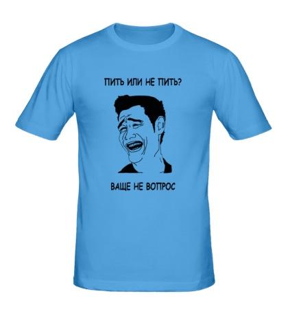 Мужская футболка Пить или не пить?