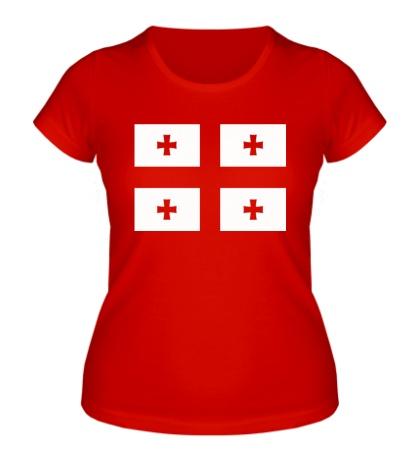 Женская футболка Флаг Грузии