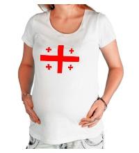 Футболка для беременной Флаг Грузии