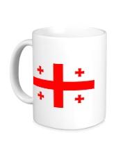 Керамическая кружка Флаг Грузии