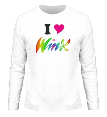 Мужской лонгслив I love Winx