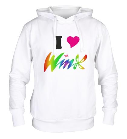 Толстовка с капюшоном I love Winx
