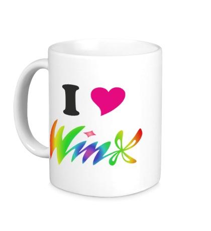 Керамическая кружка I love Winx