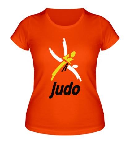 Женская футболка Эмблема Дзюдо