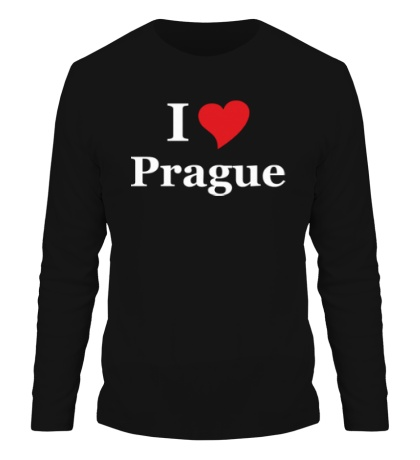 Мужской лонгслив I Love Prague