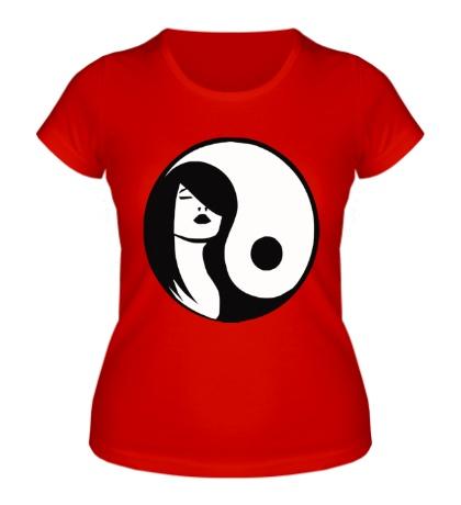 Женская футболка Девушка Инь-Янь