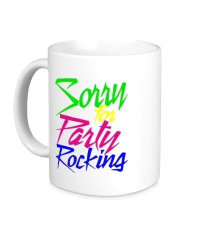 Керамическая кружка LMFAO: Sorry for party rocking