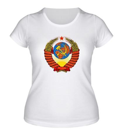 Женская футболка Герб СССР