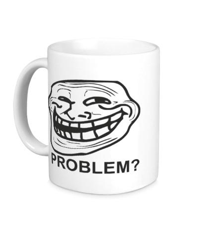Керамическая кружка Trollface. Problem?