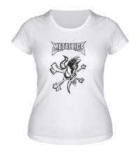 Женская футболка Metallica Skull