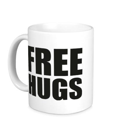 Керамическая кружка Free hugs