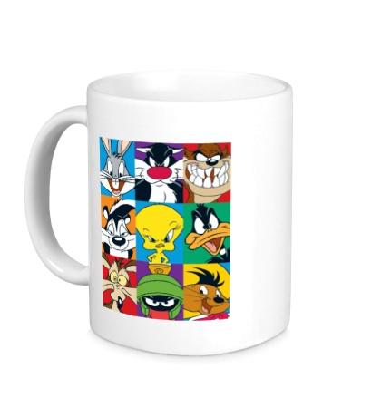 Керамическая кружка Looney tunes poster