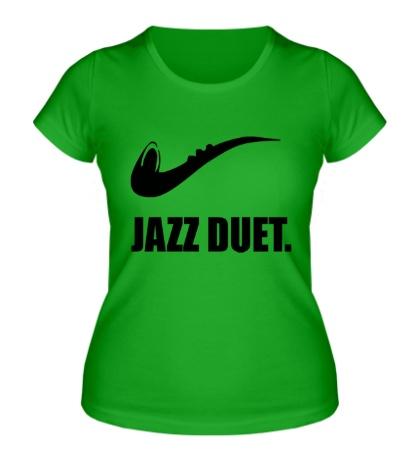 Женская футболка Jazz duet