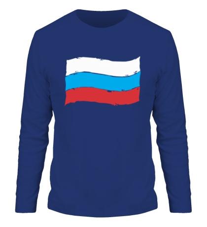 Мужской лонгслив Российский флаг