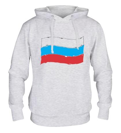 Толстовка с капюшоном Российский флаг