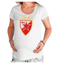 Футболка для беременной ФК Црвена Звезда