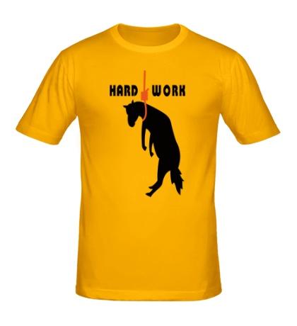 Мужская футболка Hard work