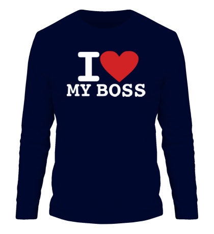 Мужской лонгслив I love my Boss