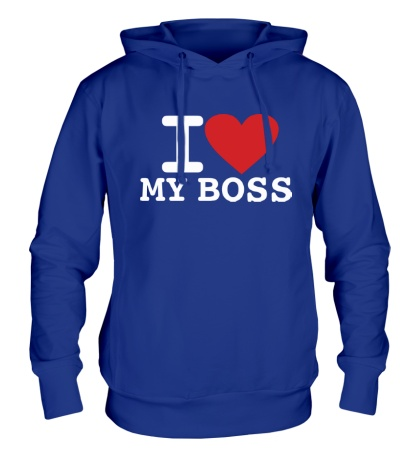 Толстовка с капюшоном I love my Boss