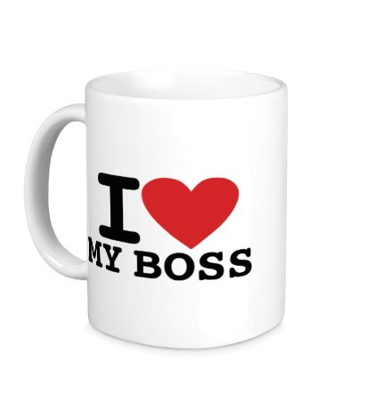 Керамическая кружка I love my Boss