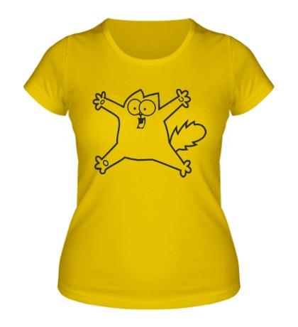 Женская футболка Испуганный Simons Cat