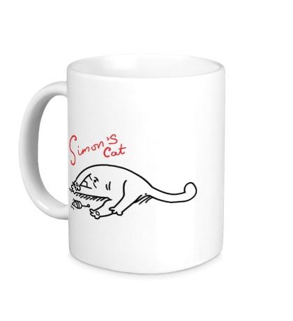 Керамическая кружка Simons Cat и мышка