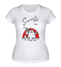 Женская футболка Simons Cat Story