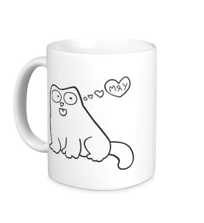 Керамическая кружка Simons Cat